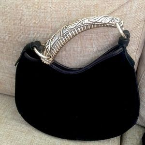 YVES SAINT LAURENT SILVER HORN HANDLE BAG
